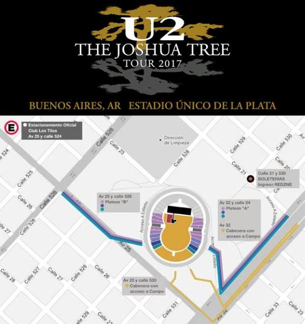 acceso a estadio U2